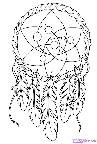 Dream Catcher Drawings Coloring Pages