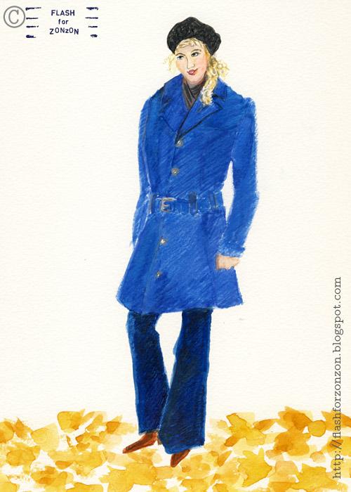 Street style Helsinki, Sky Blue Trench Coat