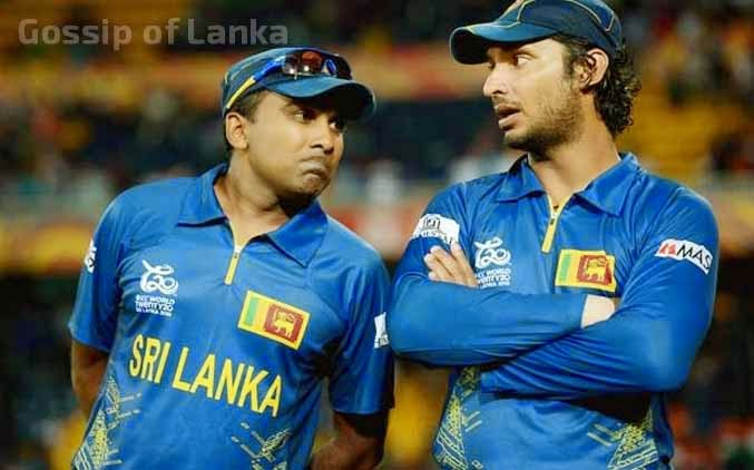 Kumar Sangakkara and Mahela Jayawardene leave the pitch together for final time