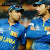 Kumar Sangakkara and Mahela Jayawardene leave the pitch together for final time
