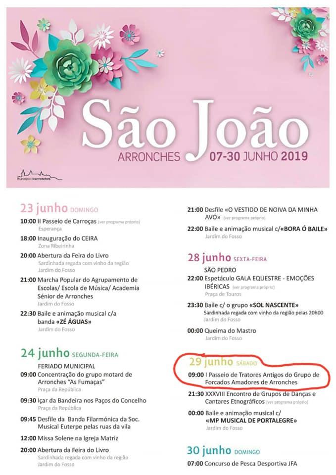 SÃO JOÃO EM ARRONCHES - 07 A 30 JUNHO DE 2019