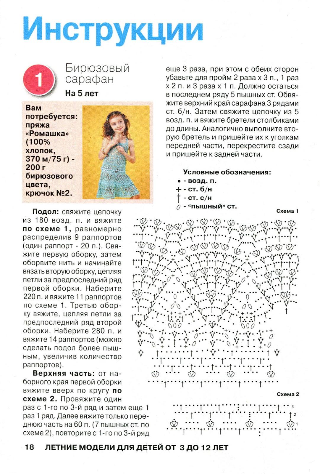 Вязание для девочек 2 лет крючком схемы и описание