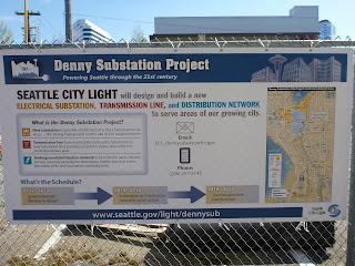 Denny Substation Project Information Board