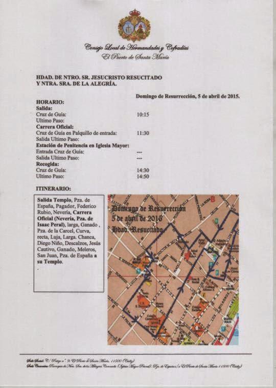 Horarios e itinerarios domingo de resurrecci n semana for Horario correos puerto real