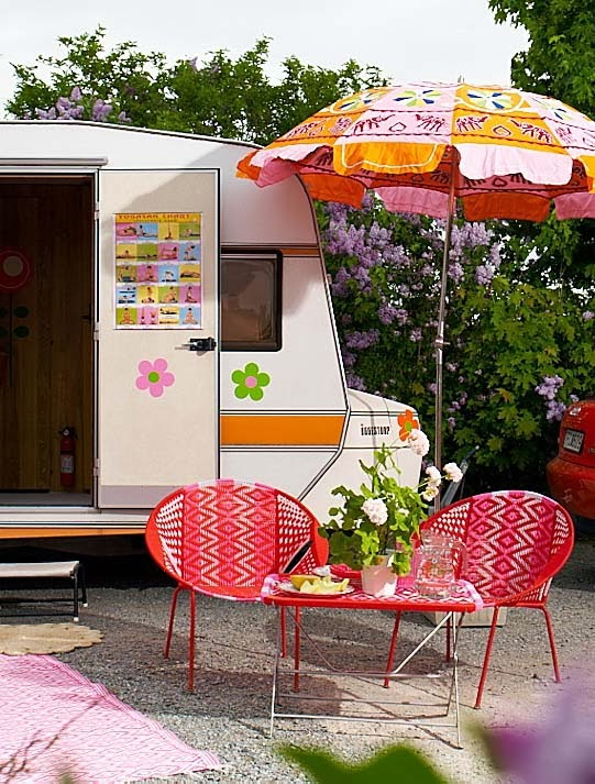 Decoracion Baño Hippie:Con cuatro detalles puedes decorar tu caravana y conseguir