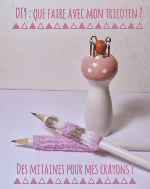 Gabulle in wonderland des mitaines au tricotin pour mes crayons - Que faire avec un tricotin ...