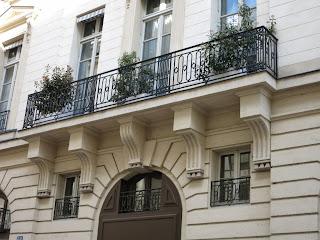 Balcon du 62 rue Boulanger à Paris