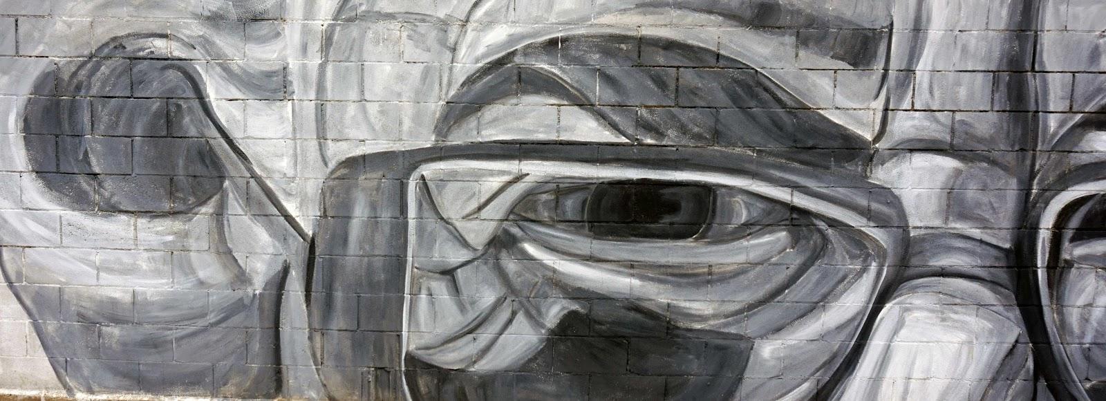 The stare graffiti