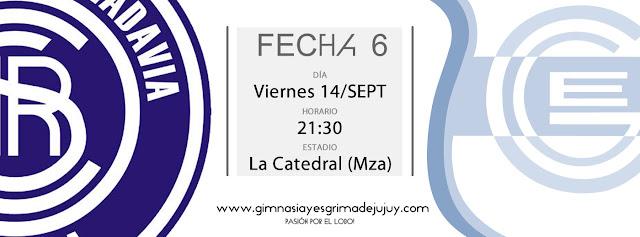 Fecha 6: Independiente Rivadavia Mendoza vs Gimnasia de Jujuy