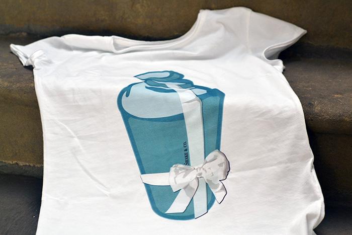 maglietta scatolina tiffany