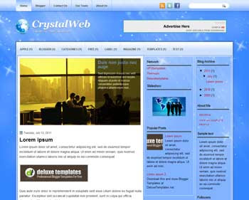 CristalWeb blogger template. template blogspot magazine style. download free template for blogger