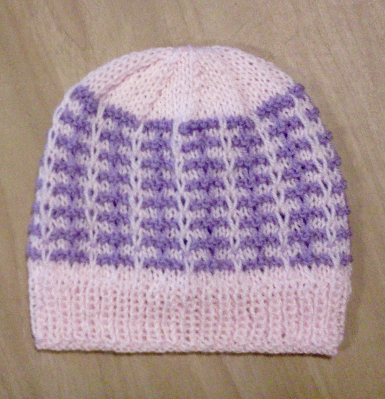 Knitting Terms Tbl : Knitit two colour beanie free pattern no