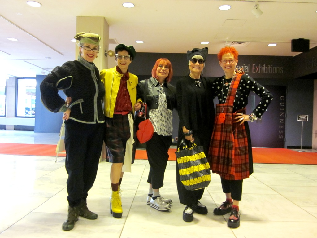 idiosyncratic fashionistas f i t to be tied part of  before we went into the exhibition itself we were spotted in the lobby we were rather hard to miss by ellen daniels and isabel cruz who delighted in