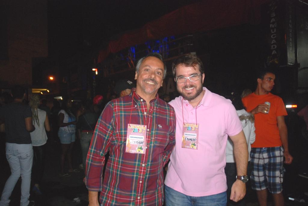 Secretário e subsecretário de Turismo, Henrique Carregal e Eduardo Milka nos festejos do carnaval