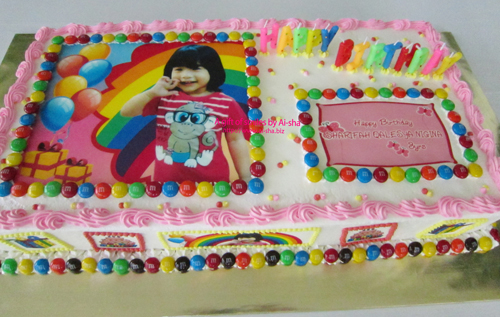 Edible Image Birthday cake for girls