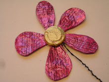 Sjove blomster af chokoladepapir