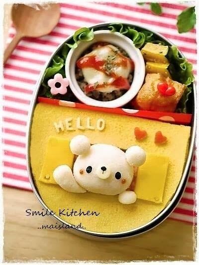 platos creativos para niños, kawaii, Mai's Smile Kitchen