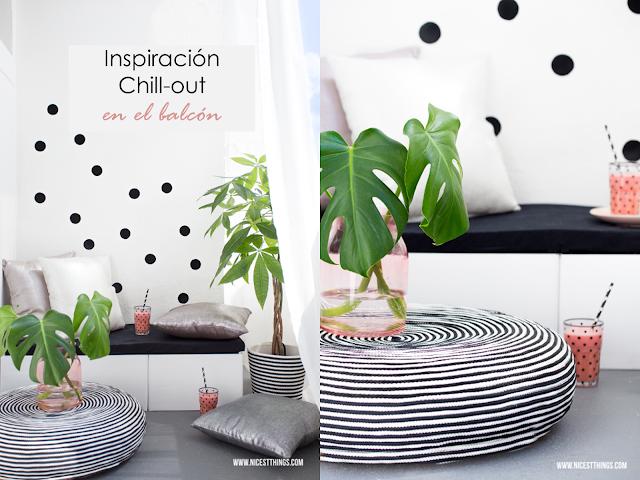 Un chill out en blanco y negro en tu balcón #diariodeco14