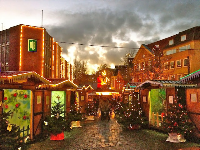 Christmas market in Leer, Germany.