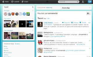 università twitter