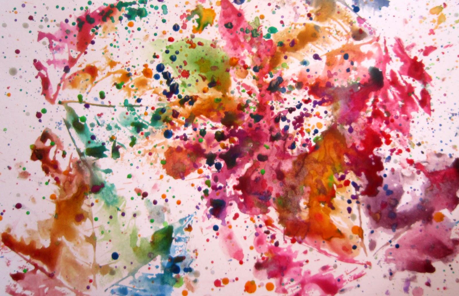 pintando con hojas secas