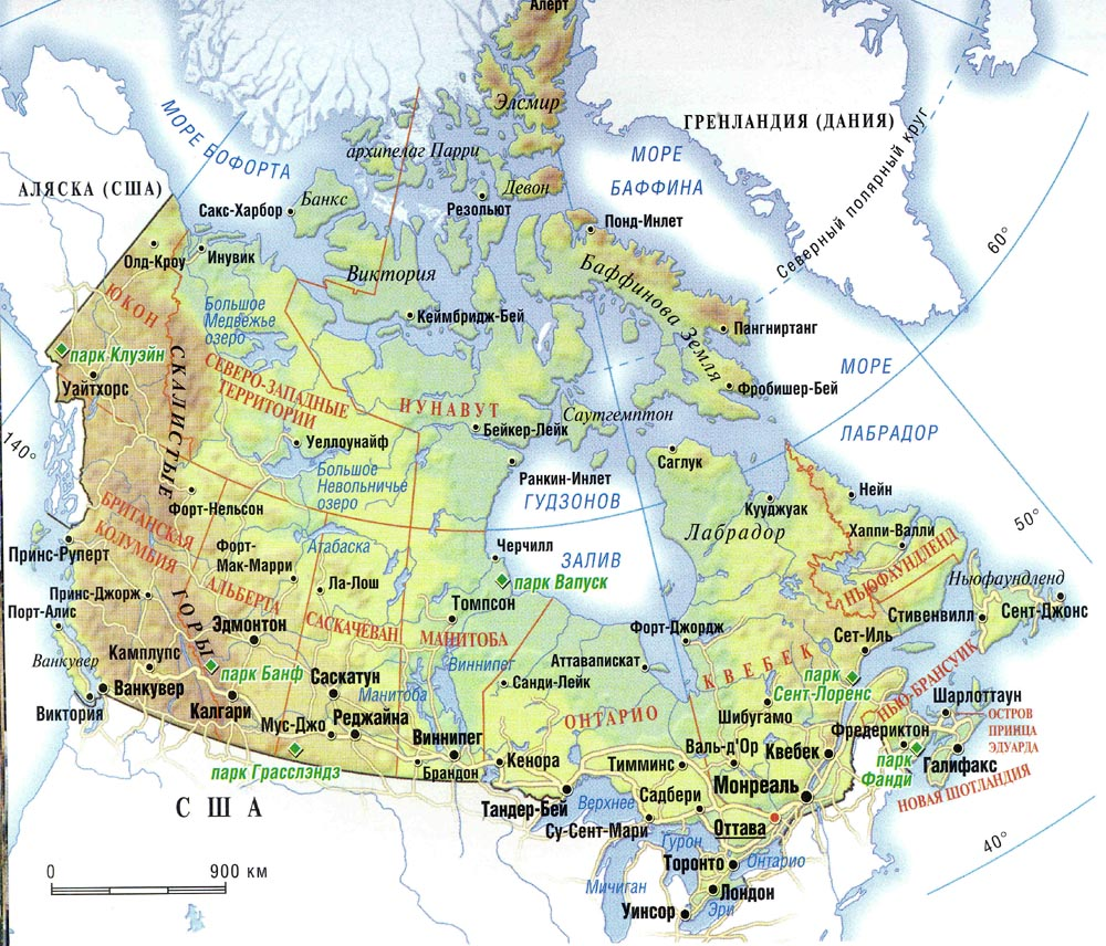 Canada Map Geography - Map of Canada City Geography