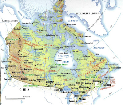 Canada Map Geography