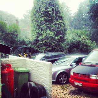 Torrential rain Cornwall