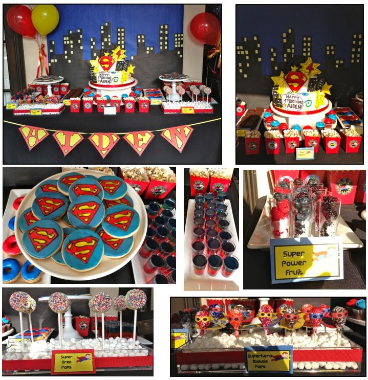 Decoración de Fiestas Superman