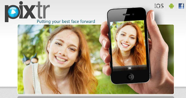 Get out of your mask; be photogenic; be beautiful by Pixtr app on smart cell phones and tablets