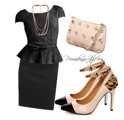 Elle Lace Peplum Dress Kelsi Dagger Eryn Deux Lux Empire Strikes Crossbody Bag Forever 21 Layered Snake Chain Necklace