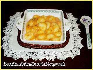 gnocchi in crema di zucca gialla