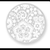 mimoneda, moneda, encaje, blanco, paula