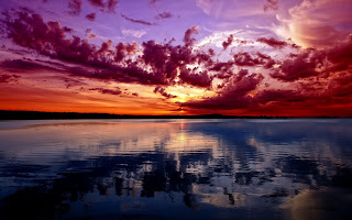 Sunset Landscape Lake HD Wallpaper