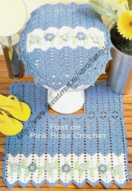 Juegos De Baño Navidenos Tejidos:dulcescreacionesdeary: juego de baño a crochet
