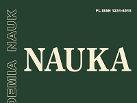 "Fragment okładki kwartalnika ""Nauka"""