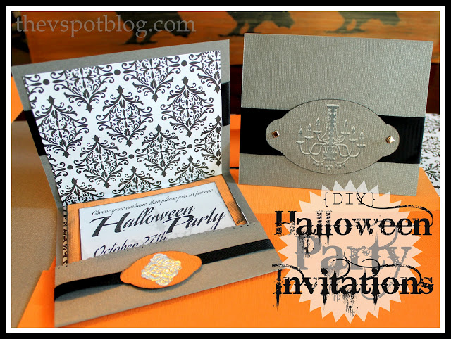 Easy Halloween party invitation DIY. Paper crafting.