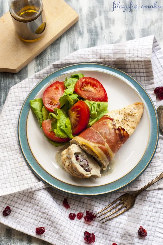 Roladki z gorgonzolą i żurawiną przepis