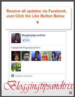 facebook pop up likebox