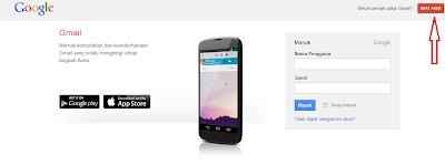 Halaman Antarmuka Gmail