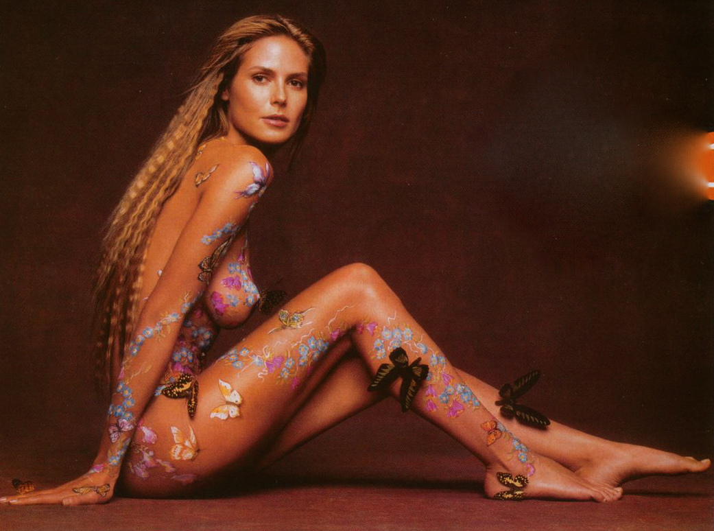 Joke? Heidi klum naked hot