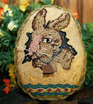 Antique Bunny Egg: 3.00 E-mail pattern