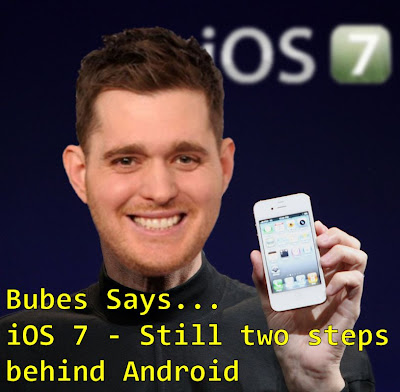 Bubes Says - iOS 7 - Still two steps behind Android