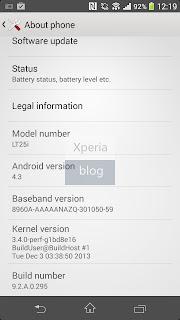 Sony Xperia V Android 4.3
