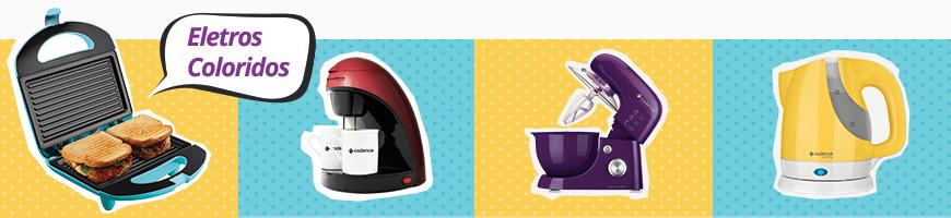 batedeira colorida, liquidificador, sanduicheira, geladeira