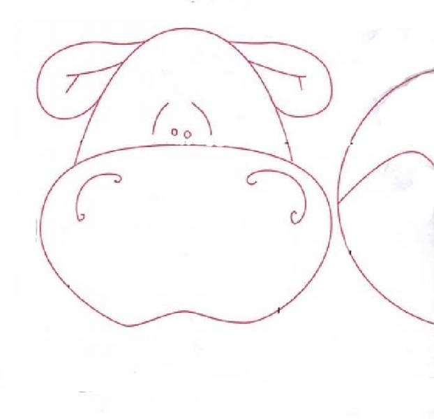 Mascara de hipopotamo en foami - Imagui