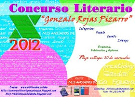 MENCIÓN DE HONOR DEL X Concurso Literario Gonzalo Rojas Pizarro. Lebu. Chile