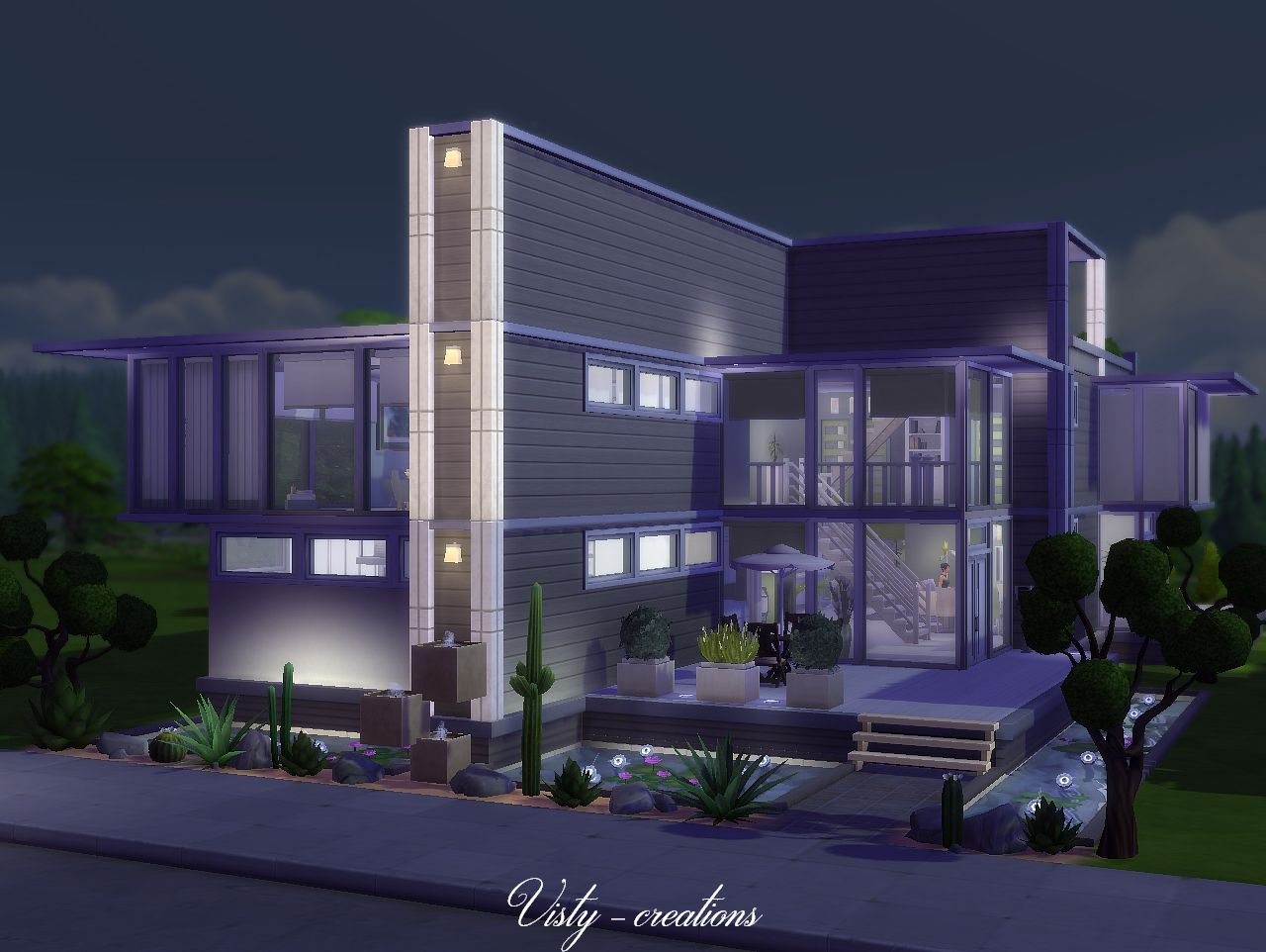 My Sims 4 Blog Modern Life and Tropical Wind Houses No CC by Visty6
