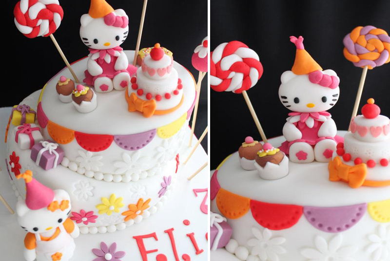 pâte à sucre hello kitty thème fête