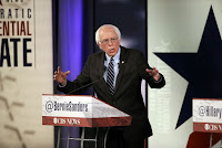 Bernie Sanders makes a point during a Democratic presidential primary debate, Saturday, Nov. 14, 2015, in Des Moines, Iowa. (Credit: AP Photo/Charlie Neibergall) Click to Enlarge.